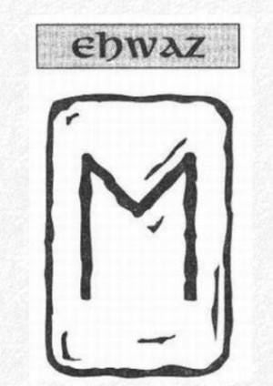 Значение на отделните руни - Ehwaz