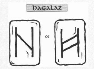Значение на отделните руни - Hagalaz