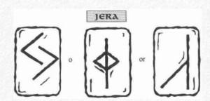 Значение на отделните руни - Jera