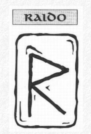 Значение на отделните руни - Raido