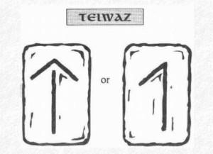 Значение на отделните руни - Teiwaz