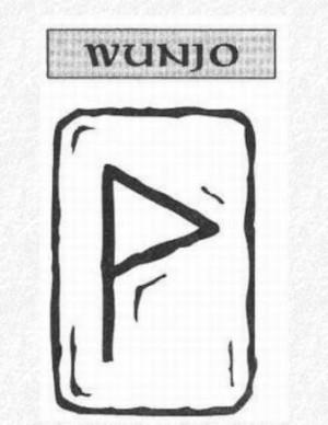 Значение на отделните руни - Wunjo