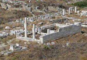 Херайон, Храма на Хера, на остров Делос, Гърция.