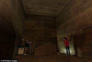 Изследване на стените с новата технология.