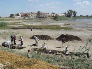 Разкопки на Наукратис, един от изгубените градове на Египет.