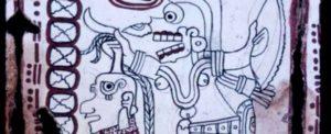 Тайнственият кодекс на маите ( the Grolier Codex ) – фрагмент.