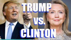 Двамата опоненти – Хилъри и Тръмп.