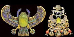 За произхода на огърлици и украшения открити в различни мумии и в тази на Тутанкамон, остава мнението на учените, след направените анализи, че са от метеорити. Според някои те са от ядрена война, което е малко вероятно.