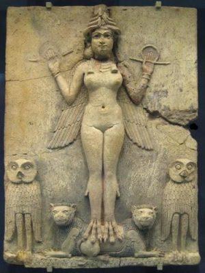 Кралицата на нощта и на плодородието – Ищар, което означава в превод Великден. Снимка от Британския музей.