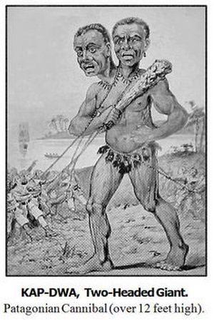 Илюстрация на двуглавия гигант Kap-Dwa.