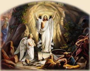 С разпятието и възкресението Исус победи смъртта и тази победа е за всички нас. Църквата празнува възкресението с празника Великден, въпреки особените му корени.