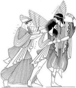 Изображение на легендарната амазонска кралица Орития.