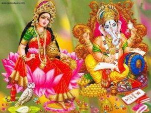 Богиня Парвати и бог Ганеша.