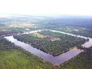 Лазерната технология LIDAR разкрива изгубен град около Ангкор Ват.