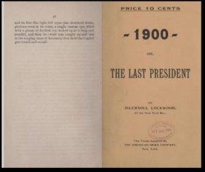 """Книгата """"1900: или Последният президент"""" на Ингърсол Локууд"""