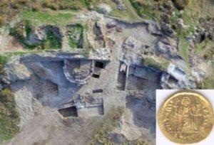 Открита е златна монета в крепостта Русокастро.