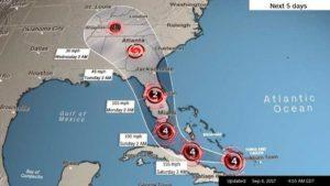 Пътят на урагана Ирма