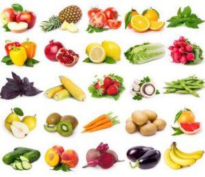 Храни богати на антиоксиданти.