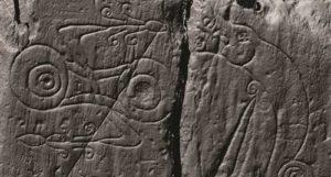 Лазерно сканирано изображение на издълбаните пикстийски символи.