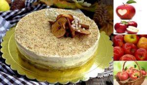Веганска ябълкова торта: рецепта без мляко, масло и яйца