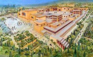 Творба на художник за двореца на цар Минос в Кносос.