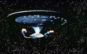 """Космически кораб от фантастичната филмова поредица """"СТАРТРЕК"""""""
