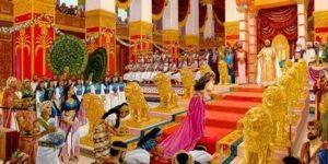 Житейски решения от най-мъдрия човек цар Соломон. Савската царица пред неговия престол.