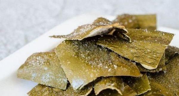 Пържени келп чипсове - Dasima Twigak