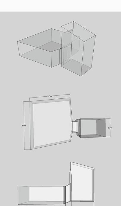 Изометричен план и изображения в гробницата на тайнствената мумия на Майхерпери на височина KV36, взет от 3D модел.
