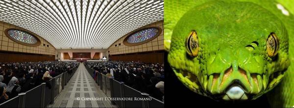 Изглед отвътре на залата за аудеинции във Ватикана