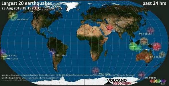 144 големи земетресения само за една седмица.