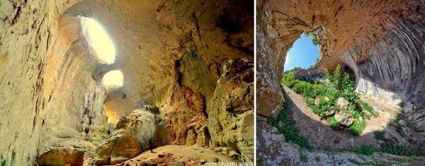 Пещера Проходна се намира до село Карлуково