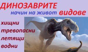 видове динозаври