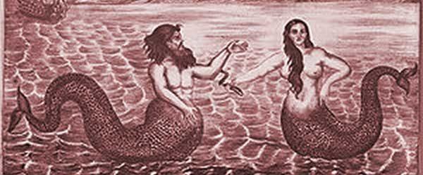 мъжка и женска русалка, сирени