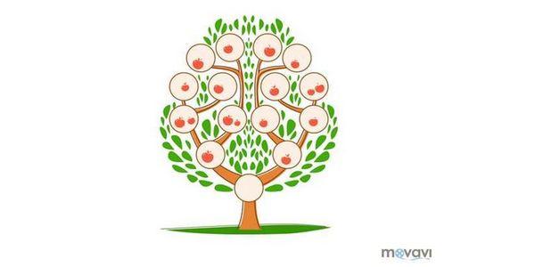 Шаблон с дърво за деца.