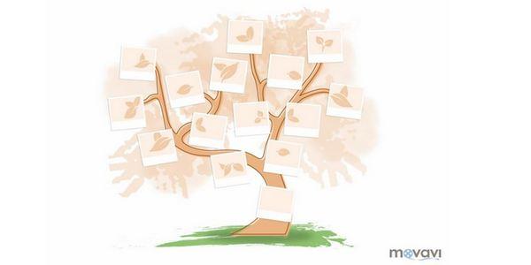 Шаблон с дърво за възрастни.