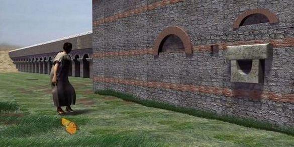 Никополис ад Иструм – Акведукт, възстановка с компютърна графика.