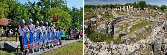 Възстановка на сцени от живота в Никополис ад Иструм по време на фестивалите и част от града.
