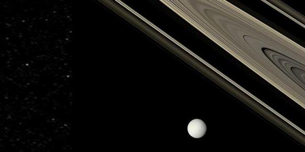 Тетида и пръстените на Сатурн