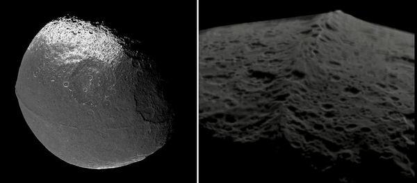 Спътник на Сатурн – Япет и неговата планинска верига.