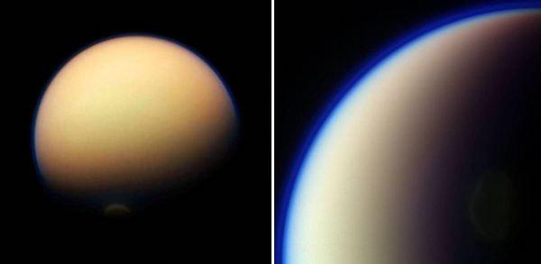 Най-големият спътник на Сатурн е Титан