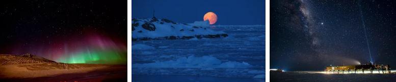антарктида нощни снимки