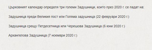 задушници 2020